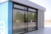 Glasfassade IBA Terrassen in Großräschen
